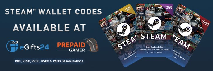 South African Steam Wallet Codes