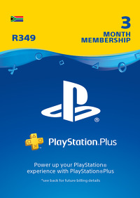 PlayStation Plus 3 Month Membership (ZA)
