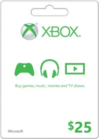 $25 US Xbox LIVE Gift Card