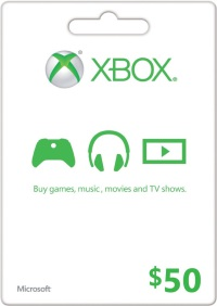 $50 US Xbox LIVE Gift Card