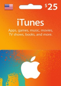 $25 US iTunes Gift Card