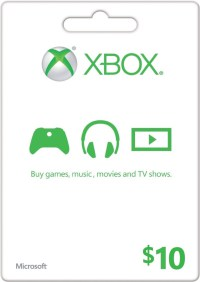 $10 US Xbox LIVE Gift Card